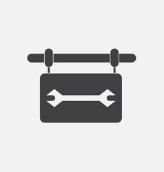 black icon on white background wrench sign vector image