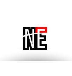 Black white alphabet letter ne n e logo icon vector