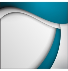 Blue and white curve lines abstract vector image