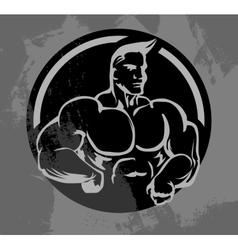 Bodybuilder Mascot vector