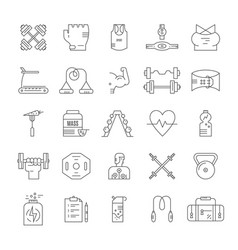 bodybuilding icon collection vector image