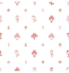 bouquet icons pattern seamless white background vector image