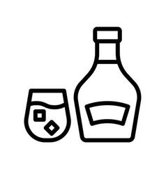 Brandy beverage line style icon vector