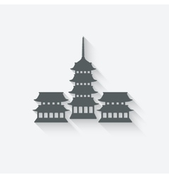 Buddhist temple design element vector