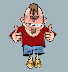 Cartoon funny smiling male character with a beard vector