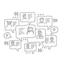Chat messages internet communication sketch vector
