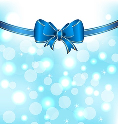 Christmas elegant packing with bow vector