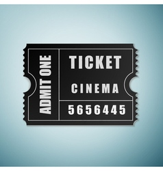 Cinema ticket icon isolated on blue background vector