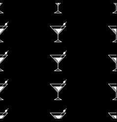 cocktail black and white vector image