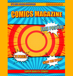Comics magazine cover vector