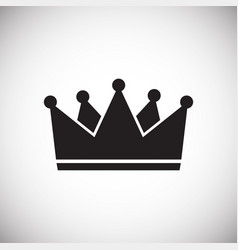 crown on white background for graphic and web vector image