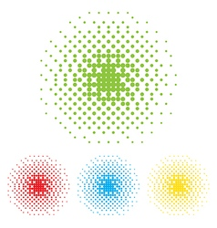 dotted frame Abstract background Halftone effect vector image