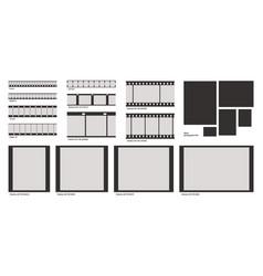 film photo frame negative photography strip vector image