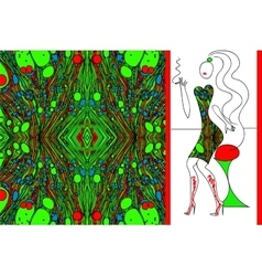 Green marbled fabric for woman dress vector