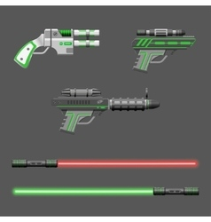 Guns set Video game weapons vector image