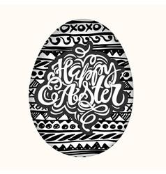 happy easter inspirational quote handwritten vector image