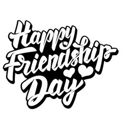 happy friendship day lettering phrase with star vector image