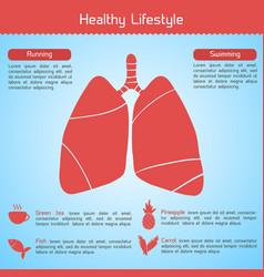 Healthy lifestyle concept vector