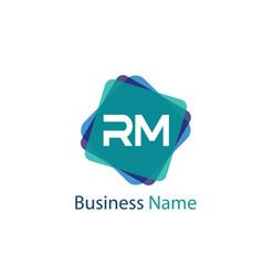 Initial letter rm logo template design vector