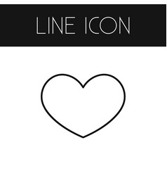 Isolated favorite outline heart element vector