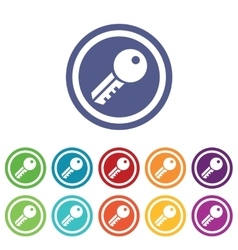 Key signs colored set vector image