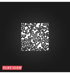 Labyrinth Puzzle rebus icon vector image