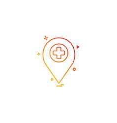 Location travel marker hospital icon desige vector