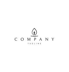Logo on which an abstract image of a candle vector