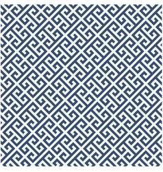 Meander diagonal pattern - greek ornament vector
