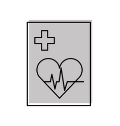 medical order with cardiology test document icon vector image