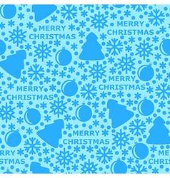 Merry pattern blue vector