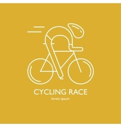 Modern of cyclist vector