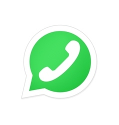 modern phone icon in bubble speech vector image