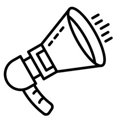 noise megaphone icon outline style vector image