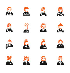 occupation icon set vector image vector image