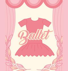pink tutu clothes ballet elegance vector image