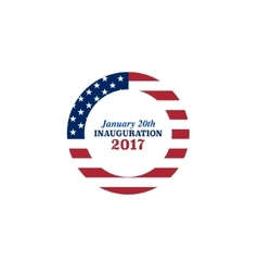 presidential inauguration 2017 icon vector image