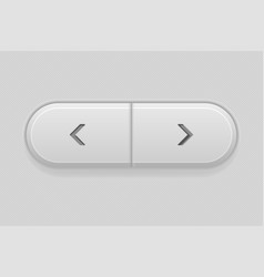 previous and next buttons control interface 3d vector image