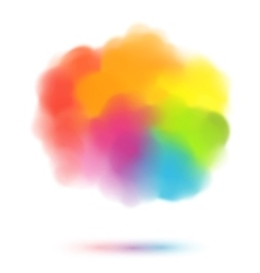 Rainbow colors blurred cloud vector