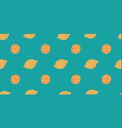 Seamless lemon slice pattern citrus fruit vector