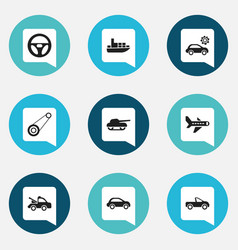 set of 9 editable shipment icons includes symbols vector image