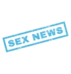 Sex News Rubber Stamp vector image vector image