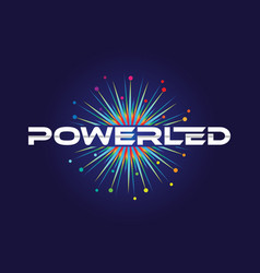 Spark colorful power led logo symbol vector