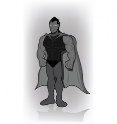 superman vector image