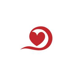 swirl love logo vector image