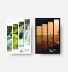 Templates flyers with rectangular vertical blocks vector