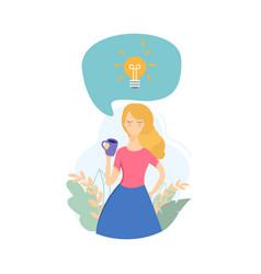 the girl has an idea vector image