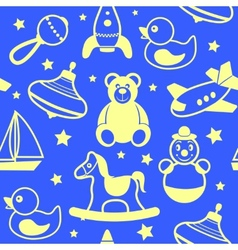 Toys collection wallpaper vector image