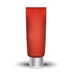 Tube Of Cream Or Gel Red Clean Ready For Your vector image