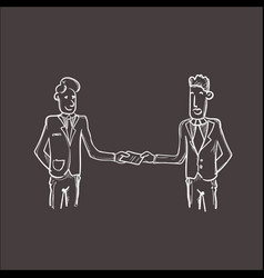 Two businessman hand shake business man handshake vector
